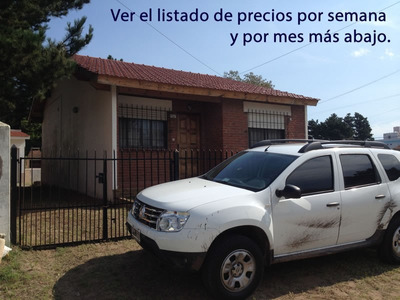 Chalet 8 Personas. Santa Teresita / Mar Del Tuyu. Parrilla.