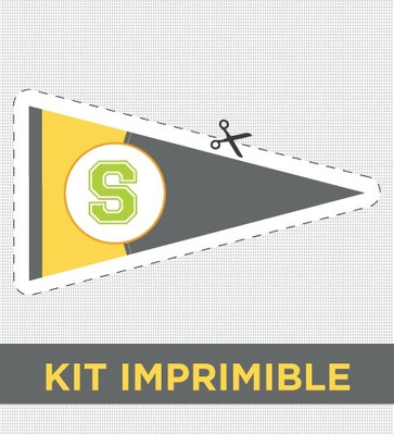 Kit Imprimible College Cumple Comunion Invitacion