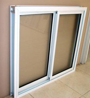 Ventana Aluminio Blanco Vidrio Entero 100x90 Con Vidrio 4mm