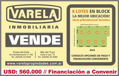 8 Lotes En Block En La Reserva Gran Oportunidad!!!