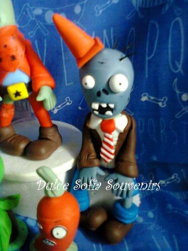 adorno de torta, plantas vs zombies
