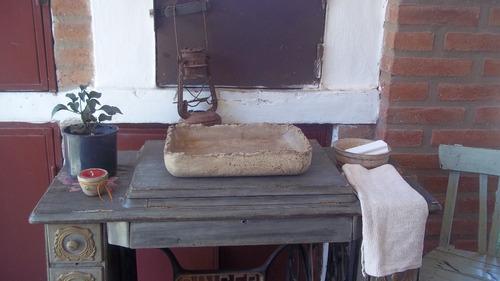 bachas de apoyo o de inclusión. realizadas en pasta piedra..