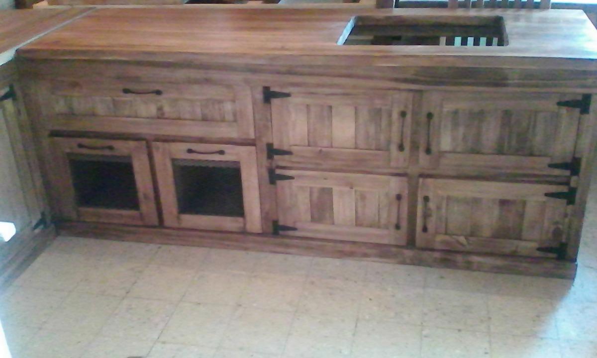 Muebles de cocina madera estilo campo ideas for Muebles cocina rusticos