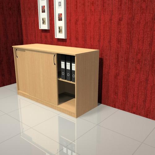 biblioteca baja 1.20 / escritorio / muebles de oficina
