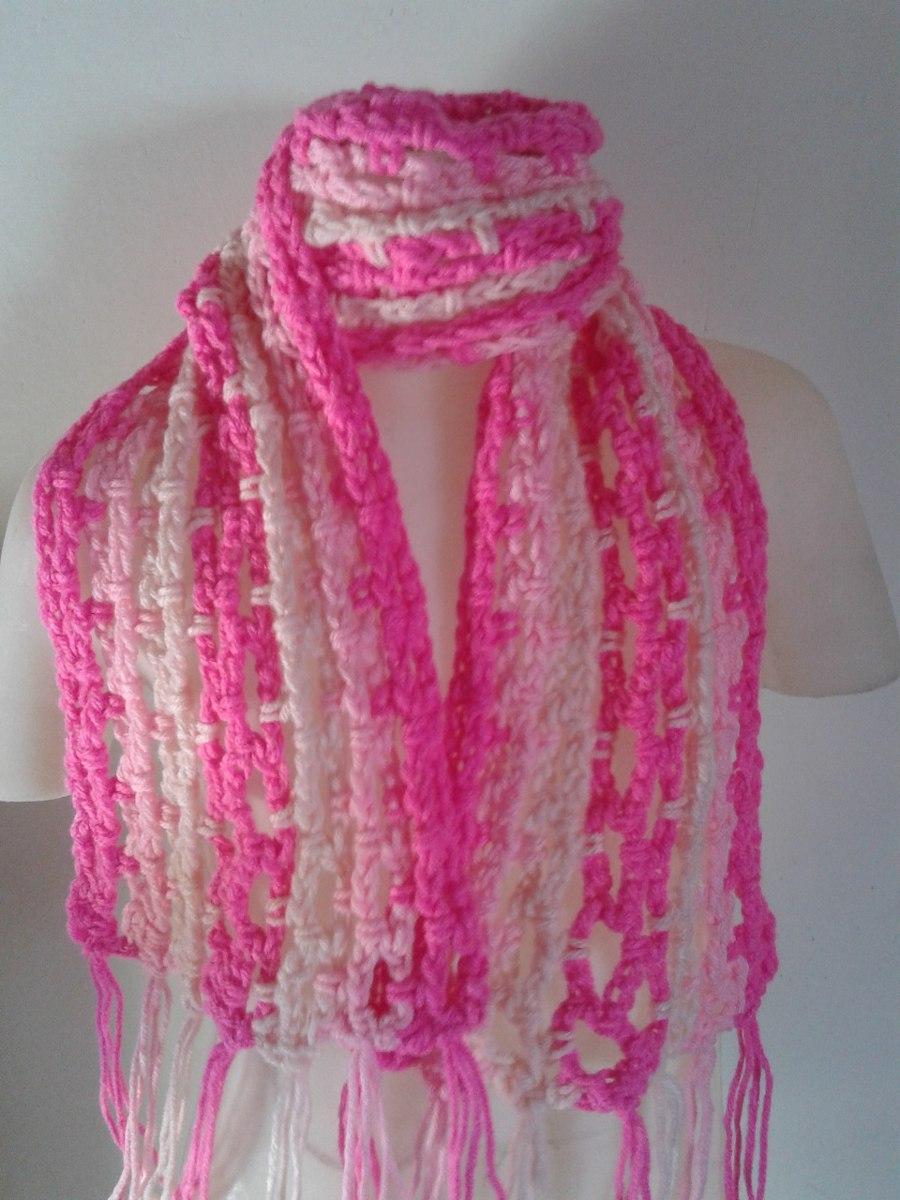 bufanda tejida al crochet para niños/as. Cargando zoom.
