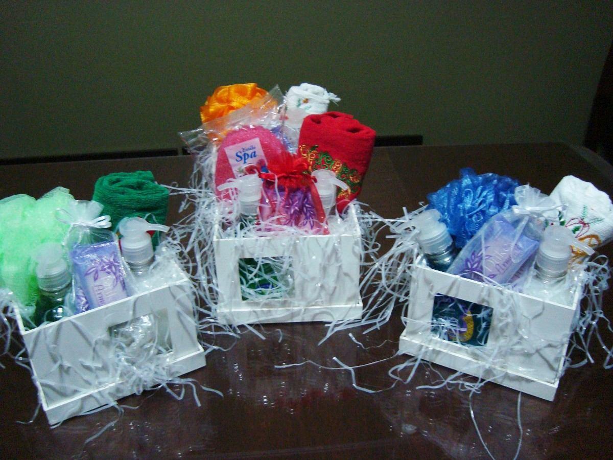 Set De Baño Souvenirs:Caja Madera Spa / Set Baño -día De La Madre – $ 200,00 en Mercado