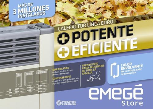 calefactor emege 2155 tb  5000 kcal beige