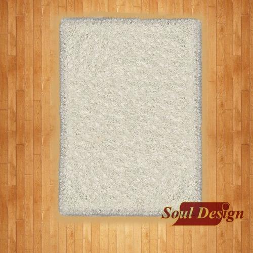 carpeta alfombra satori shaggy blanca 120 x 170 cm fundasoul