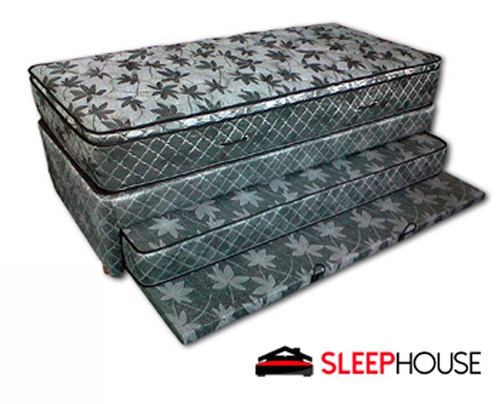 colchón y cama carro doble space 90x190 sealy tipo divan