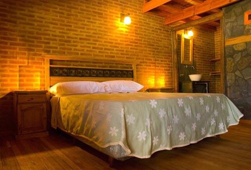 colgante de techo 1 luz tulipa  grande rustico madera hierro