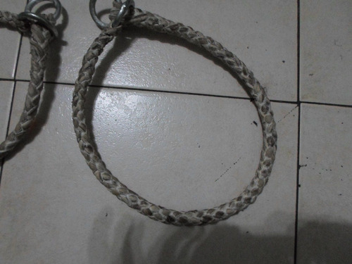 collar de ahorque para perros de cuero trenzados de 4tientos