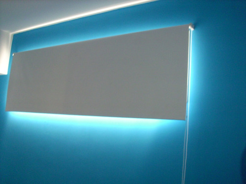 cortinas roller blakout blanco promo origen usa 100% bloqueo