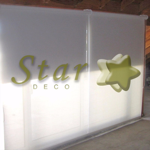 cortinas roller doble a medida b.out y screen star deco