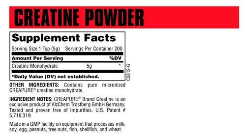 creatina 500 grs. universal nutrition 100% creapure alemana
