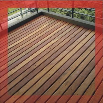 deck madera eucalipto grandis colocado - premium sin nudos!!