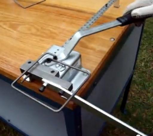 Dobladora cortadora manual de hierro estribos for Manual para hacer muebles