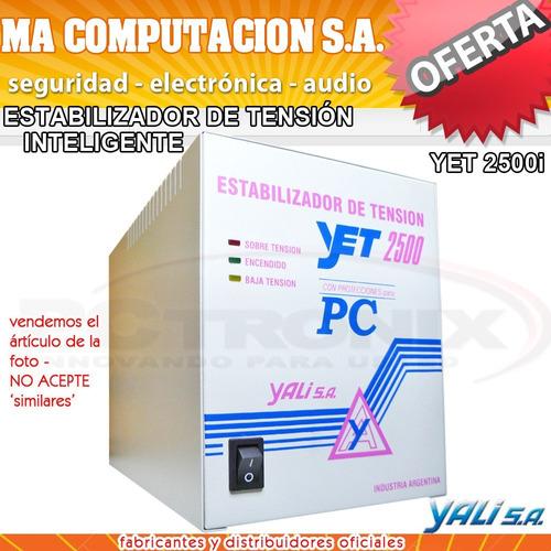 estabilizador elevador automatico de tension 2500w  heladera
