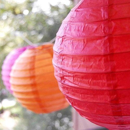 Lamparas De Papel Chinas Balones Pack X 4 Unidades!  $ 140,00 en