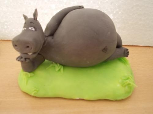 los personajes de madagascar en porcelana fria para tu torta