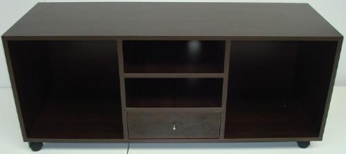 mercadomuebles mesa tv lcd de 1,30 melamina c/ cajón y fondo