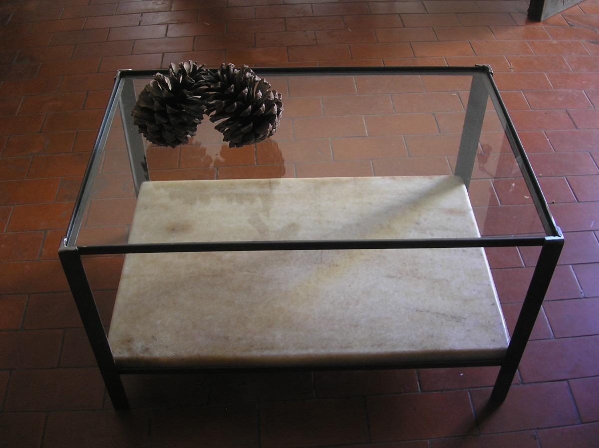 Mesa ratona en marmol carrara reciclado vidrio y acero - Marmol carrara precio ...