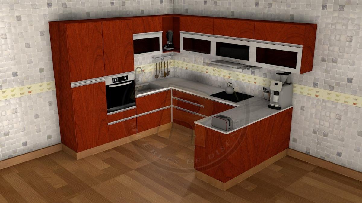 Modelo de muebles de cocina good muebles de cocina lineal for Muebles modernos precios