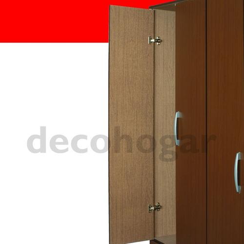 placard ropero mosconi 6 puertas y 2 cajones de melamina