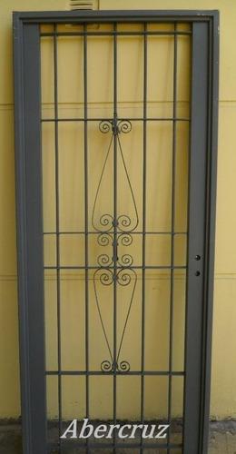 puerta reja,  linea premium, para puertas de frente 80x200