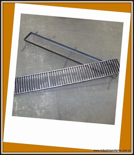 rejilla de desagüe 20cm con marco y antioxido