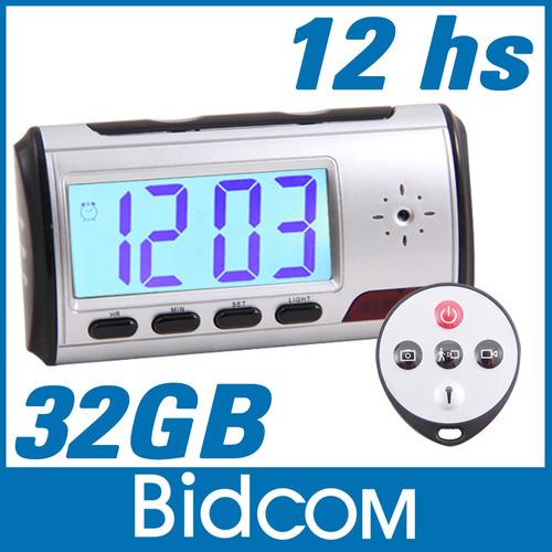 reloj espia mini camara oculta activacion movimiento 32gb
