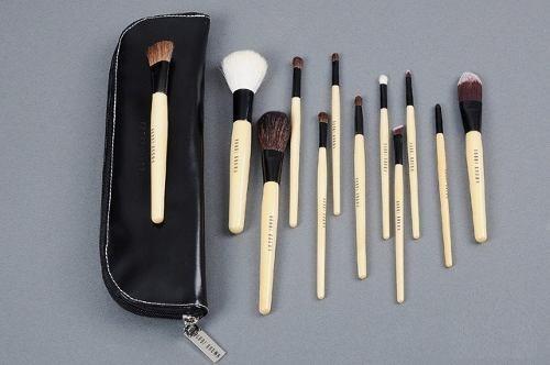 set 12 pinceles bobbi brown profesional maquillaje + regalo!