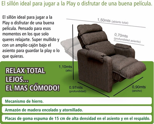 sillón reclinable play sensation 3 posiciones