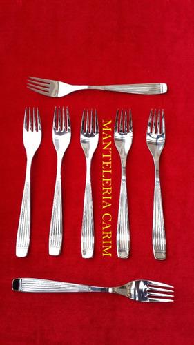 tenedor de acero inoxidable  12 unidades