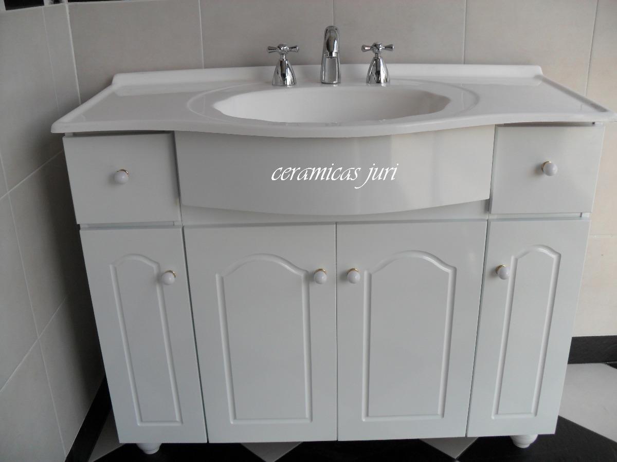 Bachas Para Baño Pintadas:Vanitory 1mtr Mueble De Baño Laqueado Blanco + Bacha – $ 2499,99 en
