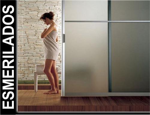vinilo esmerilado p/ vidrios, ventanas - atención arquitect