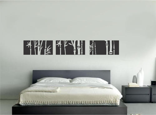 Bambu Decoracion O Grove ~ Vinilo Pared Siluetas Bamb? Decoracion Wall Stickers  $ 220,00 en