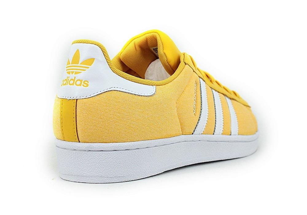 adidas blancas y amarillas